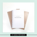 Kit Agenda Permanente - Forrado e Furado