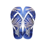 Chinelo Tropical Ascension Feminino - Azul e Branco