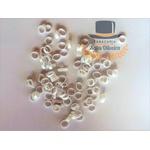 Argolinhas, Gominhas ou Canudinhos para Cigarro de Palha - 5,5mm - Branco 5,5mm