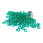 300g - Argolinhas, Gominhas ou Canudinhos para Cigarro de Palha - 5,5mm - Verde