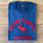 Camiseta Abercrombie FITCH Marinho/Vinho