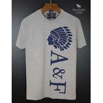 Camiseta Abercrombie Cinza