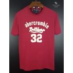 Camiseta Abercrombie Vermelho/Branco