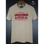 Camiseta Abercrombie Areia/Bordo
