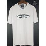 Camiseta Abercrombie Branca/Verde Petroleo