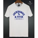 Camiseta Abercrombie Branco/Azul