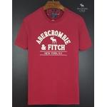 Camiseta Abercrombie Vermelha/Branco
