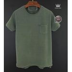 Camiseta Osk Verde musgo corte diferente