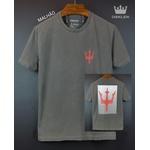 Camiseta Osk Cinza estonada simbolo vermelho