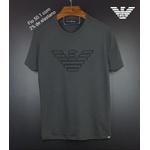 Camiseta Armani Cinza simbolo preto