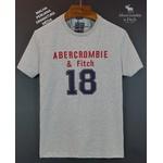 Camiseta Abercrombie 18 Cinza/vermelho