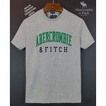 Camiseta Abercrombie Cinza detalhe verde/preto