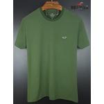 Camiseta Hollister verde musgo basica