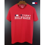Camiseta Tommy Bandeira Bordada Vermelha