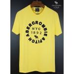 Camiseta Abercrombie Amarelo/Marinho