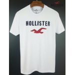 Camiseta Hollister Branca/Marinho/Vermelha