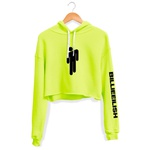 CROPPED CAPUZ VERDE NEON BONECO BILLIE EILISH