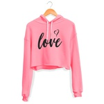CROPPED CAPUZ ROSA NEON LOVE