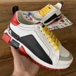 TENIS DOLCE GABBANA KING COURO TRICOLOR