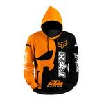 MOLETOM COM CAPUZ Fox KTM Laranja