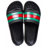 CHINELO SLIDE GUCCI PRETO