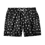 SHORT PRAIA POKER NAIPES ESPADAS BLACK