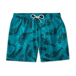 SHORT PRAIA LOVE AND GUNS AZUL