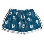 SHORT PRAIA FEMININO BLUE AND SKULLS