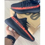 TENIS ADIDAS YEEZY BOOST 350 PRETO/CORAL