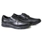 Sapato Social Masculino Confort Solado Gel Couro Preto