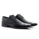 Sapato Masculino Clássico Oxford Solado em Couro