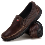 Sapatilha Mocassim Tchwm Shoes Couro Floter Café
