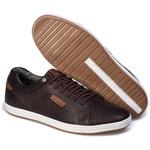 Sapatênis Masculino Tchwm Shoes em Couro Legitimo 8220 Café