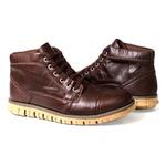 Botinha Coturno Masculina Cano Médio Couro Tchwm Shoes