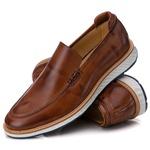 Loafer Premium Couro Liso Comforto