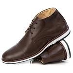 Sapato Brogue Premium em Couro Confort Tchwm Shoes Marrom