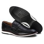 Sapato Loafer Premium em Couro Confort Tchwm Shoes Preto
