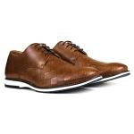 Sapato Brogue Couro Confort Tchwm Shoes Castor