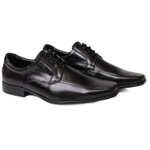 Sapato Social Masculino em Cadarço Couro Preto