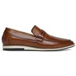 Sapato Loafer Premium em Couro Caramelo