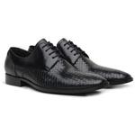 Sapato Social Tressê Premium em Couro Preto