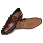 Sapato Loafer Casual Premium em Couro Marrom