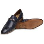 Sapato Loafer Casual Premium em Couro Marinho
