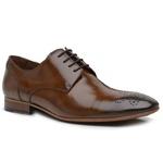 Sapato Social Premium Furos em Couro Caramelo