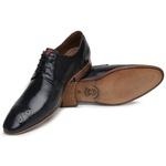 Sapato Social Premium Furos em Couro Preto