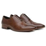 Sapato Social Premium em Couro Marrom
