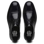 Sapato Social Xadrez Premium em Couro Preto