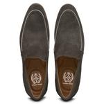 Sapato Loafer Casual Premium em Couro Camurça Cinza