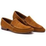Sapato Loafer Casual Premium em Couro Camurça Ferrugem