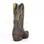 Bota Masculina Country Couro Natural Café